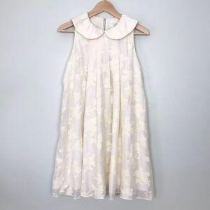 Tibi Brocade Peter Pan Collar Silk Wool Dress 4